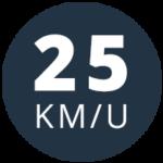 Snor 25 km/uur